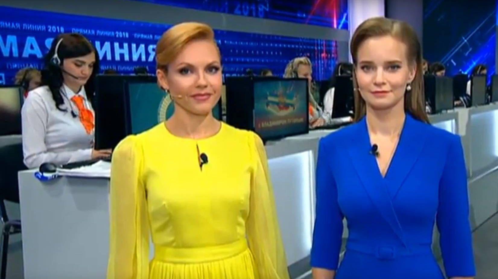 Телеведущие на программе «Прямая линия с Владимиром Путиным»