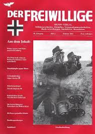 Обложка печатного органа «Общества взаимопомощи бывших членов Ваффен-СС», журнала «Доброволец». 2002