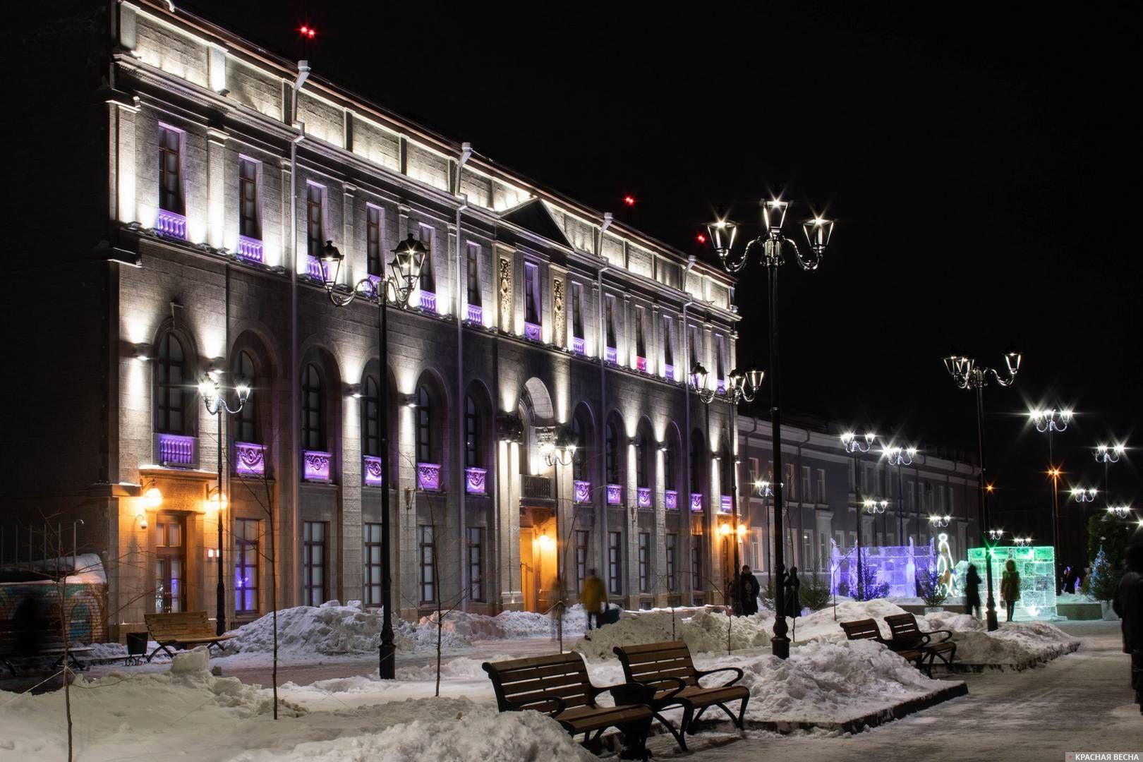 Улица Музейная и центр «Эрмитаж-Сибирь»