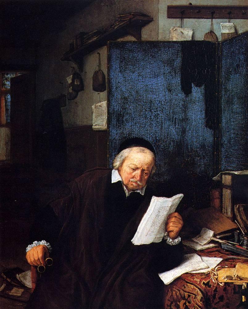 Адвокат в своем кабинете. Адриан ван Остаде 1637