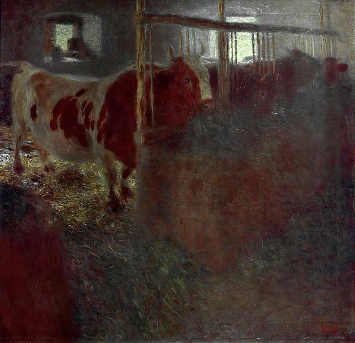 Густав Климт. Корова в стойле. 1899 год