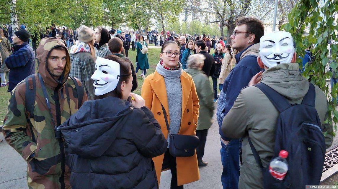 Протест на Октябрьской площади в Екатеринбурге, 15 мая 2019