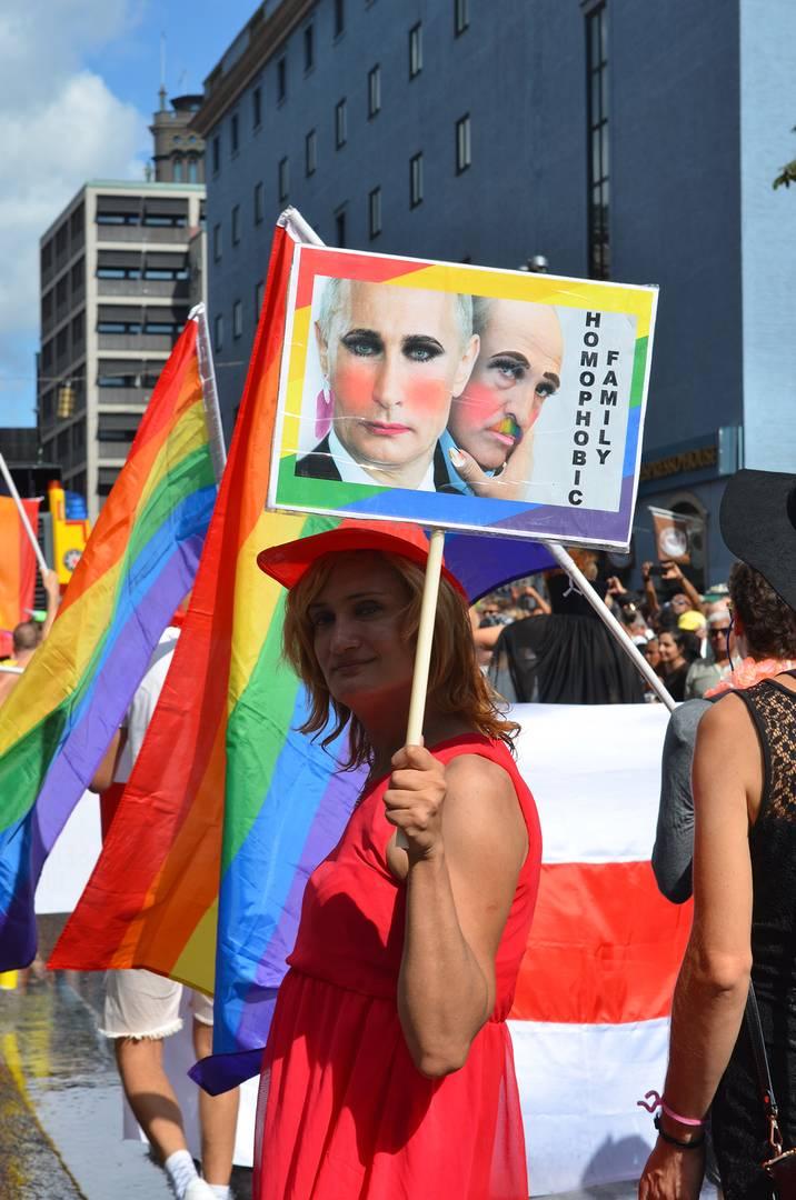 Гей-парад в Стокгольме. 4 августа 2018. (Фото — Sparrow)