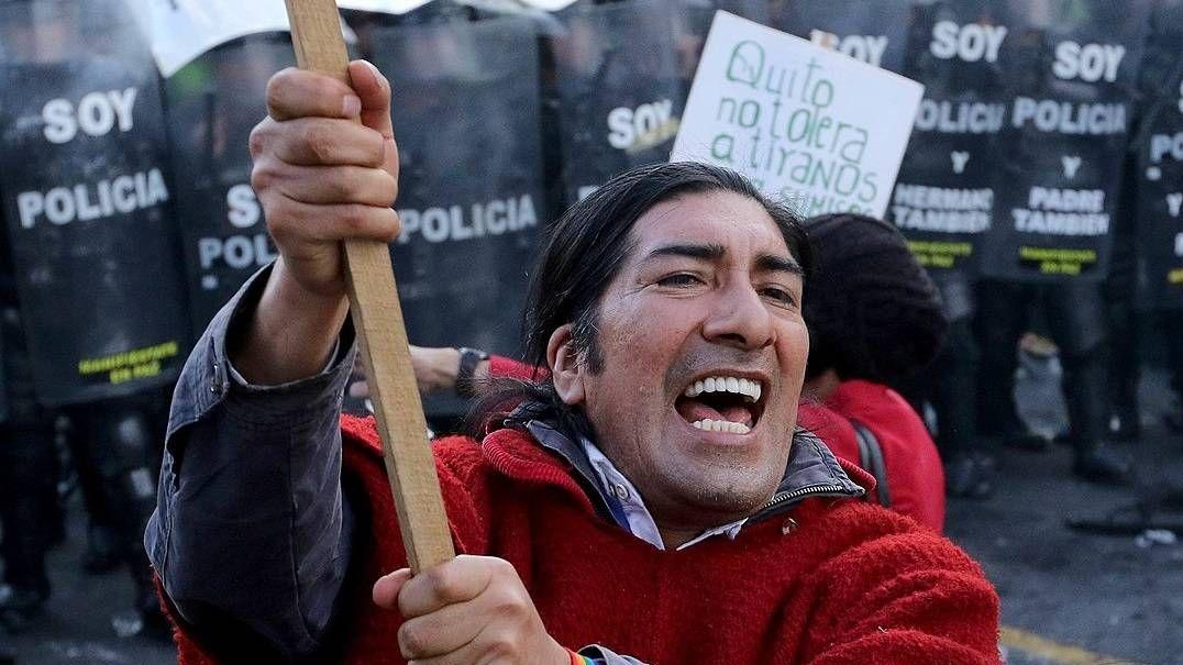 МВД Эквадора обвинило Russia Today волжи опротестах