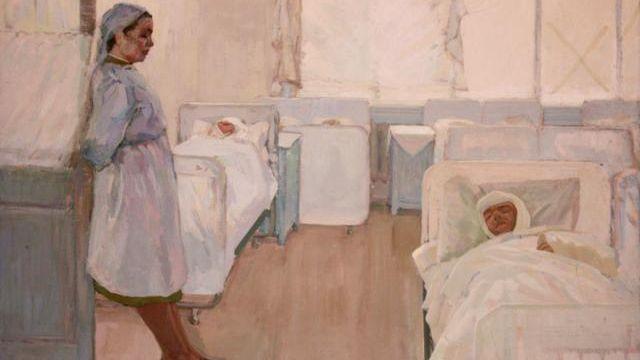 В. Кокачев. В госпитале. 1965