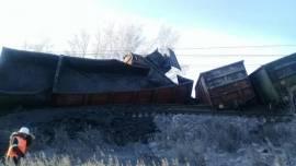Сход вагонов грузового поезда на 4969 км перегона «Делюр-Тыреть»
