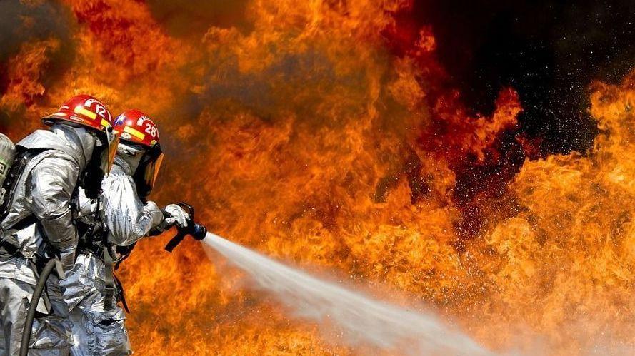 Огонь, пожарные