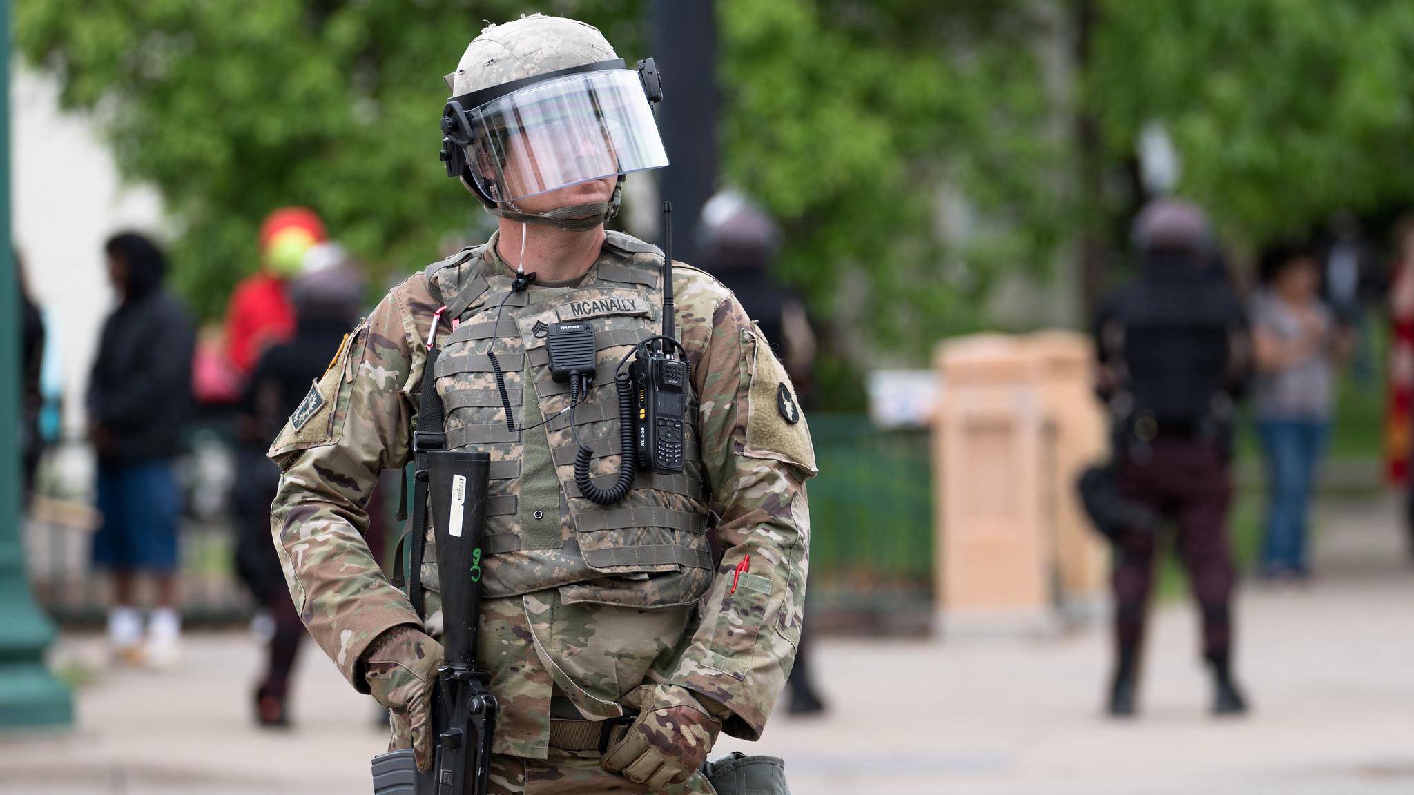 Национальная гвардия в Миннеаполисе