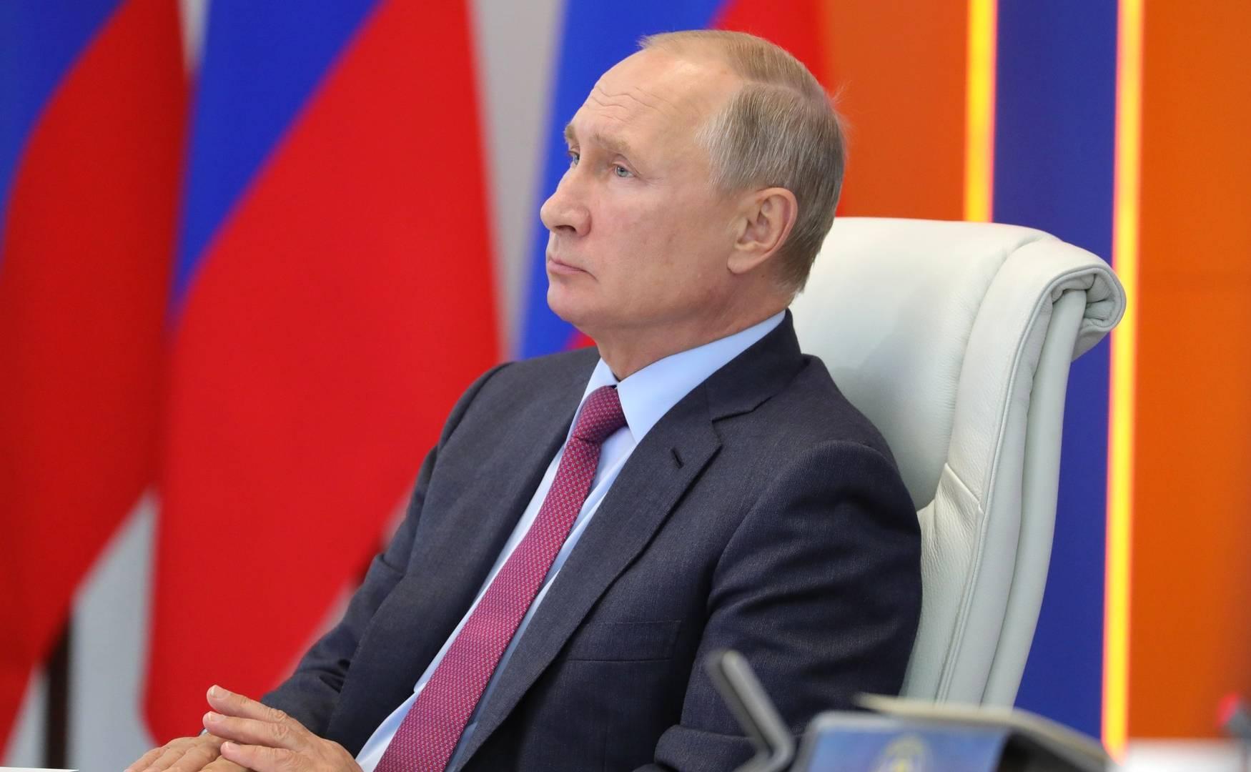 Владимир Путин на совещании по вопросам ликвидации последствий паводков на Дальнем Востоке.