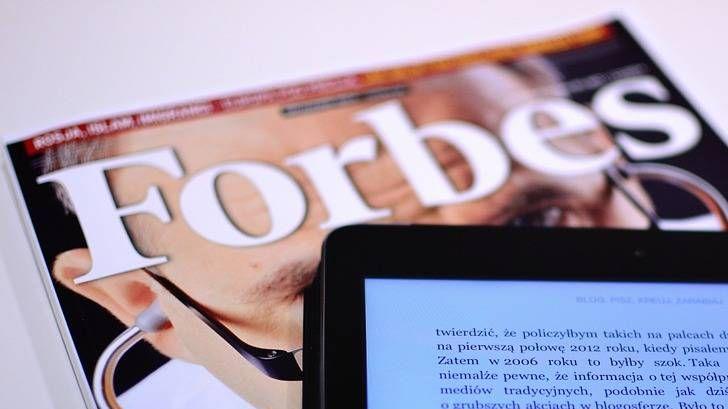 Попасть на страницы Forbes