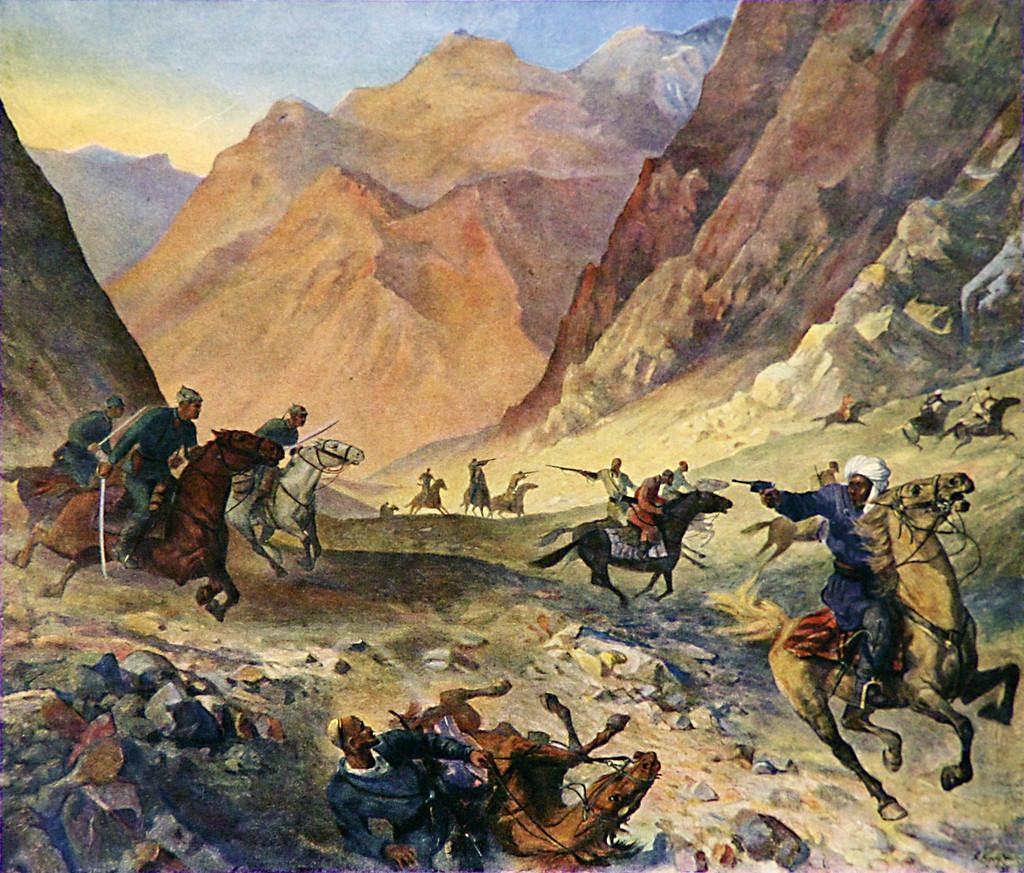 «Разгром басмаческой банды Гаил Пансата» Кручинин В. Д., 1921 г.