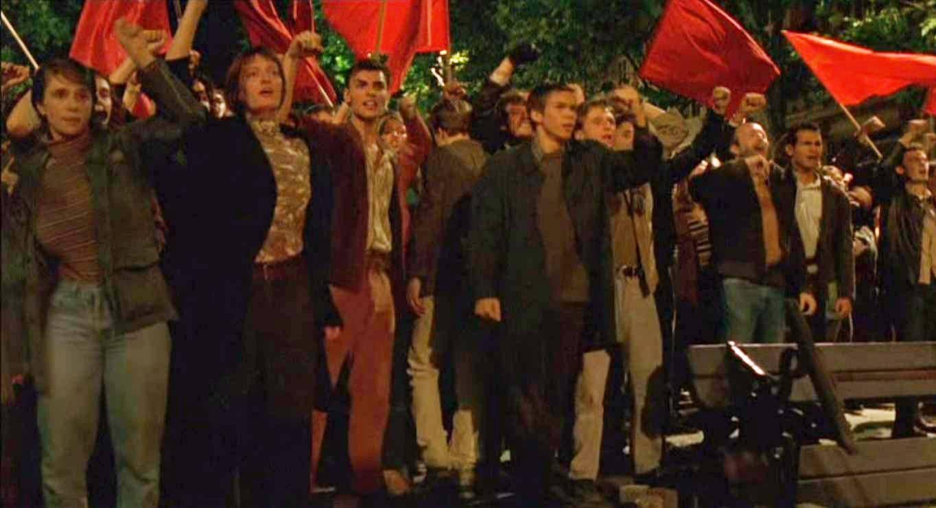 Выступления 1968 года в Париже. Цитата из х/ф Бернардо Бертолуччи «Мечтатели» (2003)