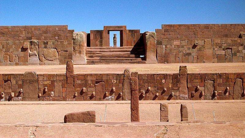 Тиуанако - Храм Каласасайя. Боливия