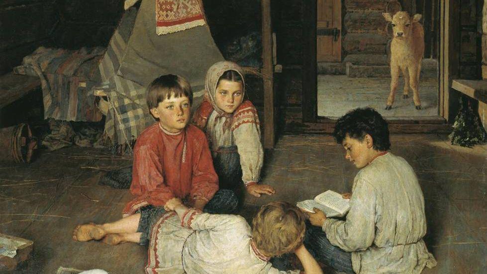 Богданов-Бельский Николай. Новая сказка. 1891 год