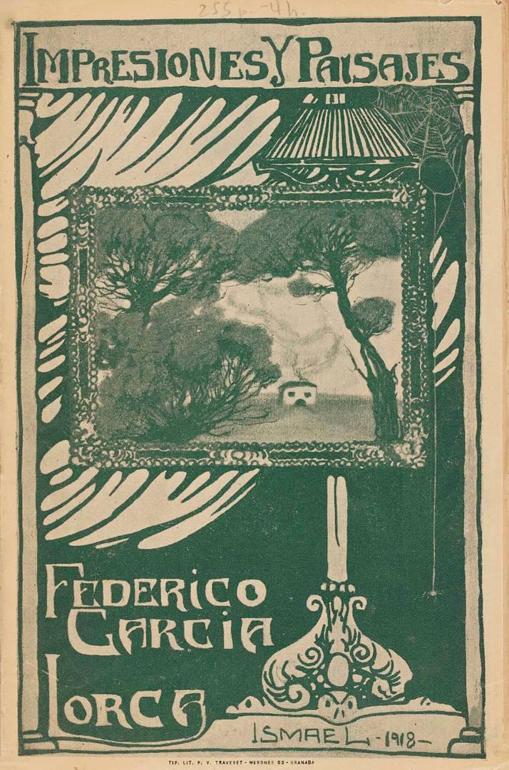 Обложка сборника путевых заметок Лорки об Испании «Впечатления и пейзажи». 1918