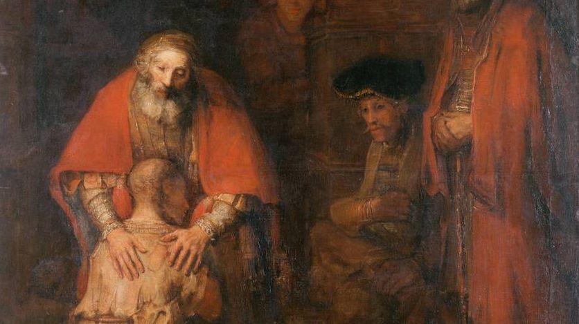 Рембрандт. Возвращение блудного сына. Фрагмент. 1669