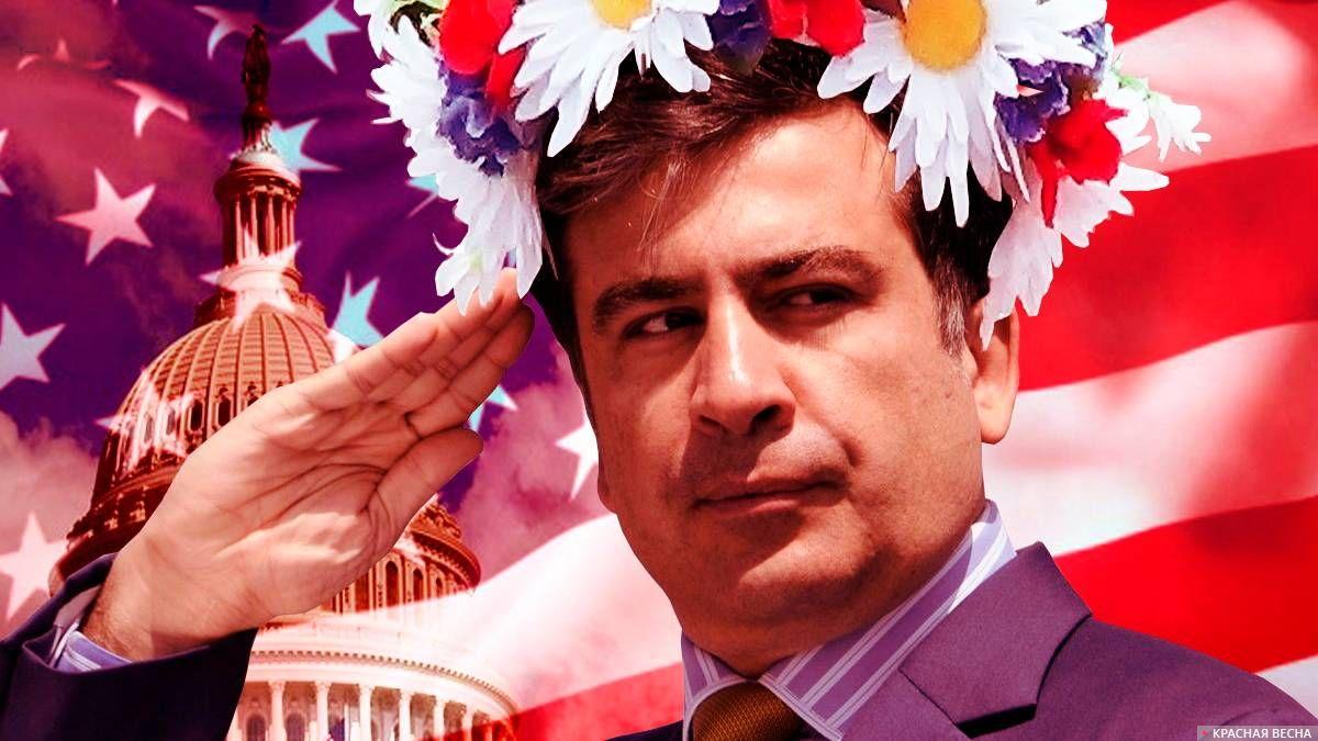«Барыг нанары»: сторонники Саакашвили снова собрались вцентре украинской столицы