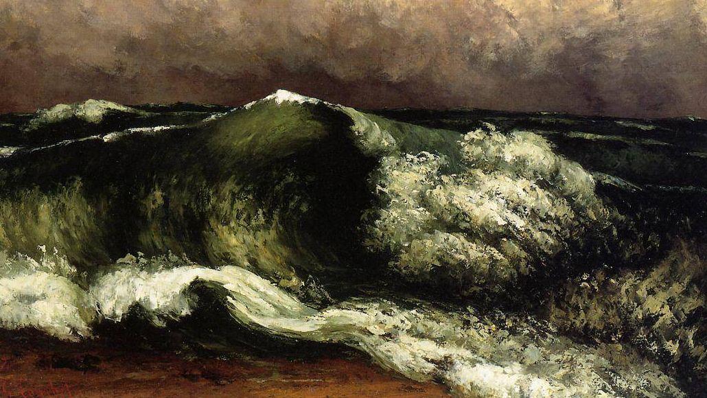 Гюстав Курбе. Волна. Фрагмент. 1869