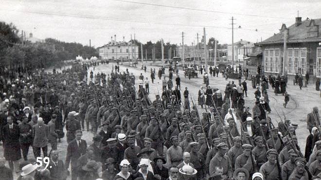 1-й стрелковый полк в Казани. август-сентябрь 1918