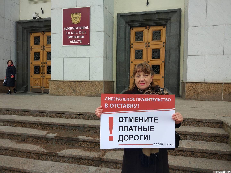 Одиночный пикет в Ростове-на-Дону. 03.04.2019
