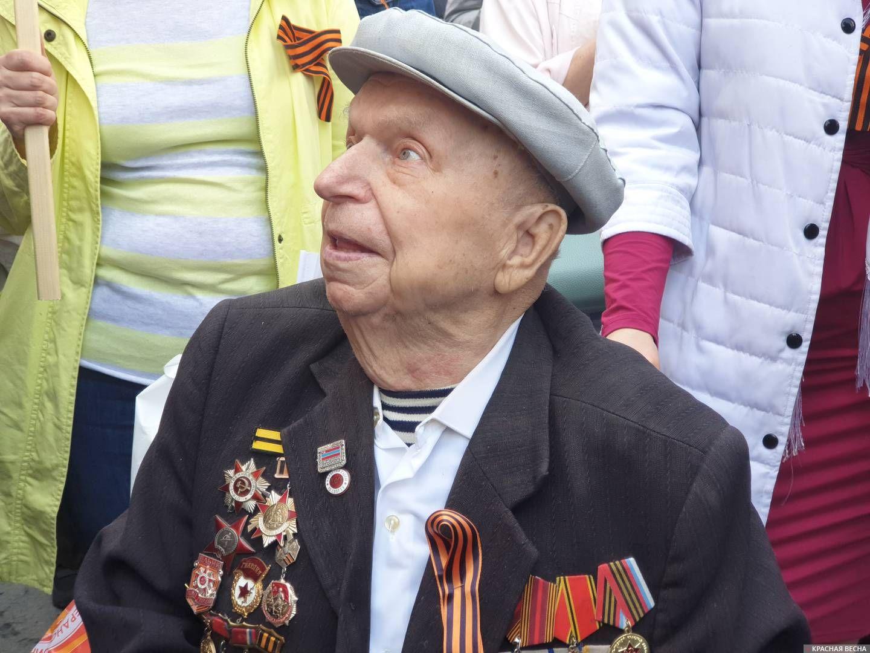 Ветеран на шествии «Бессмертного полка» в Москве