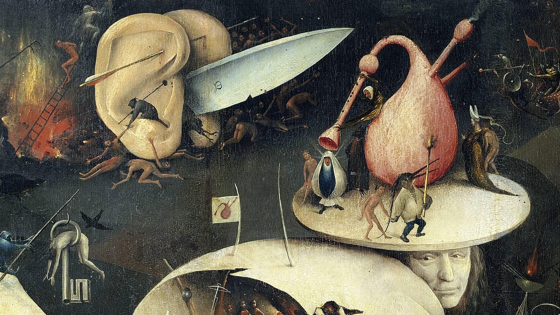 Иероним Босх. Сад земных наслаждений (фрагмент). 1500 - 1510