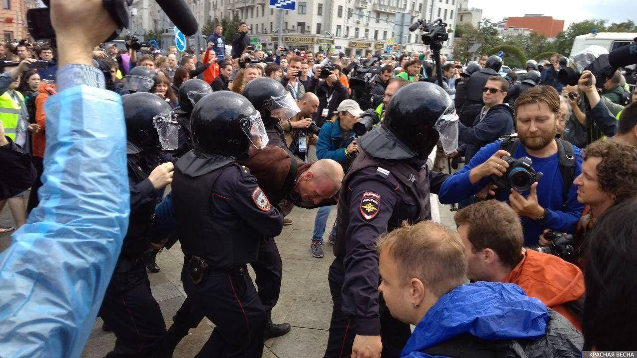 Пушкинская площадь, задержание