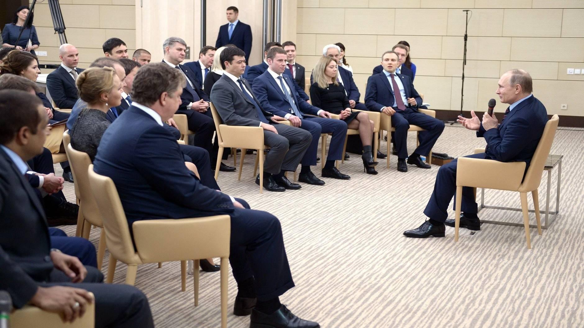 Встреча В.Путина с активом Клуба лидеров. 03.02.2016г