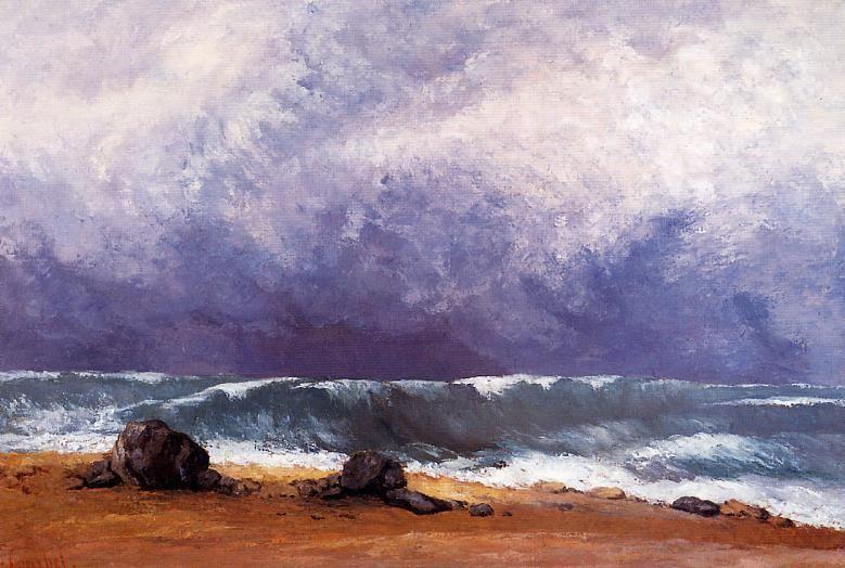 Гюстав Курбе. Волна (фрагмент).1871