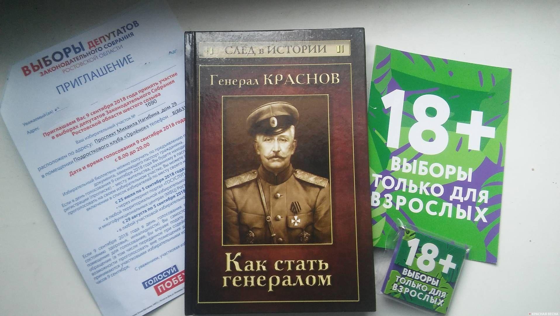 Подарок молодому избирателю на выборах 9 сентября 2018 года. Ростов-на-Дону