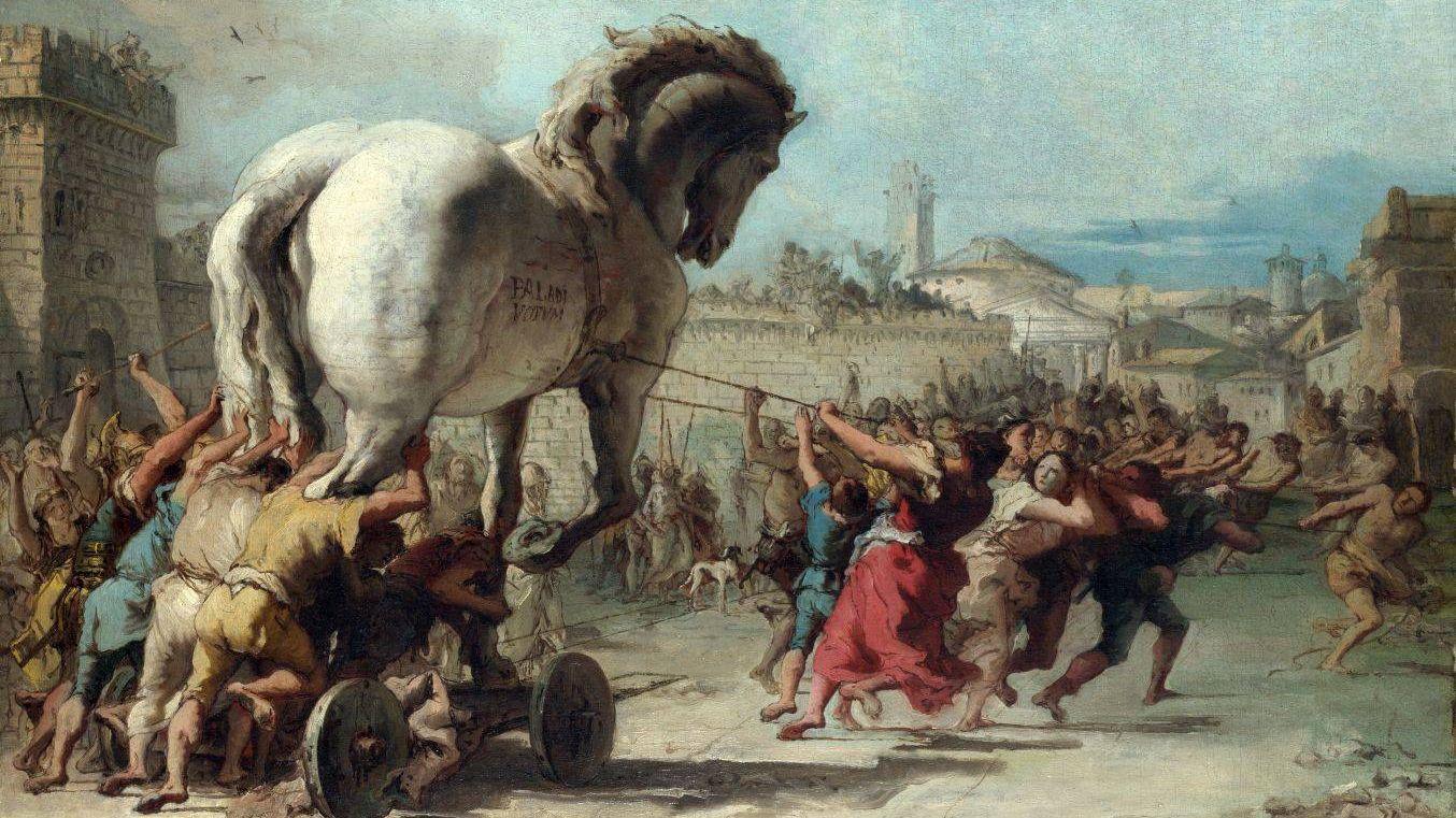 Шествие троянского коня в Трою