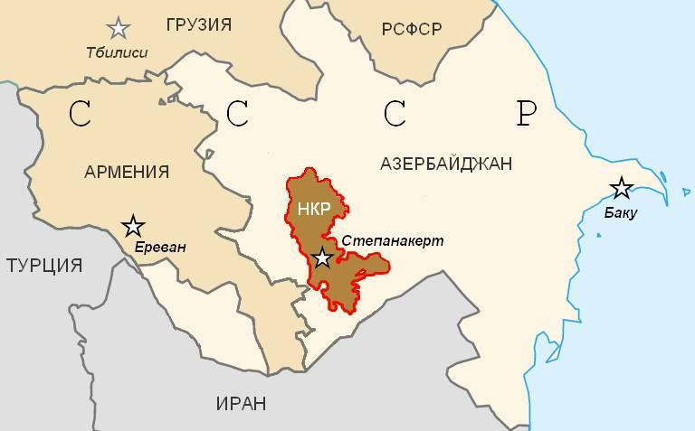 Карта Нагорно-Карабахской Республики (1991)