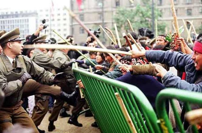 Протесты индейцев мапуче