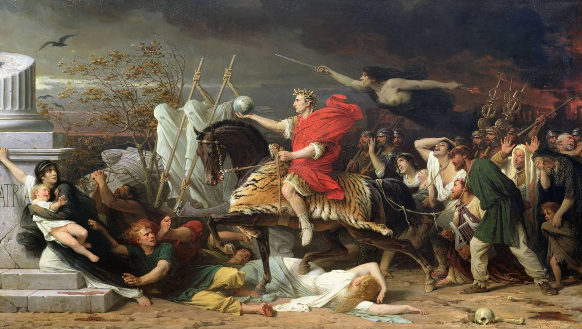 Цезарь. Картина Адольфа Ивона, 1875 год