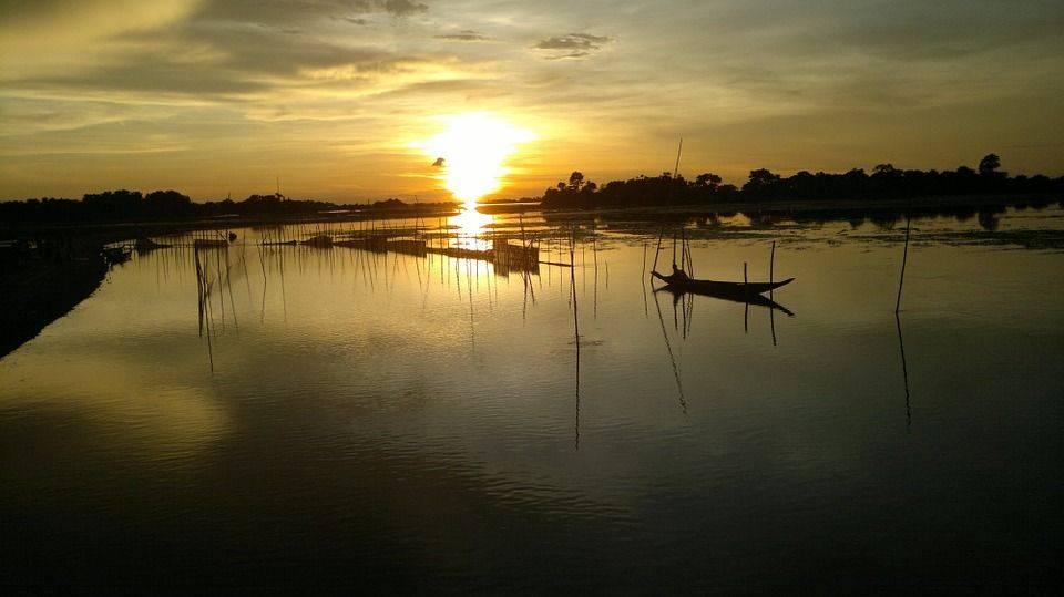 Бангладеш, закат, сумерки