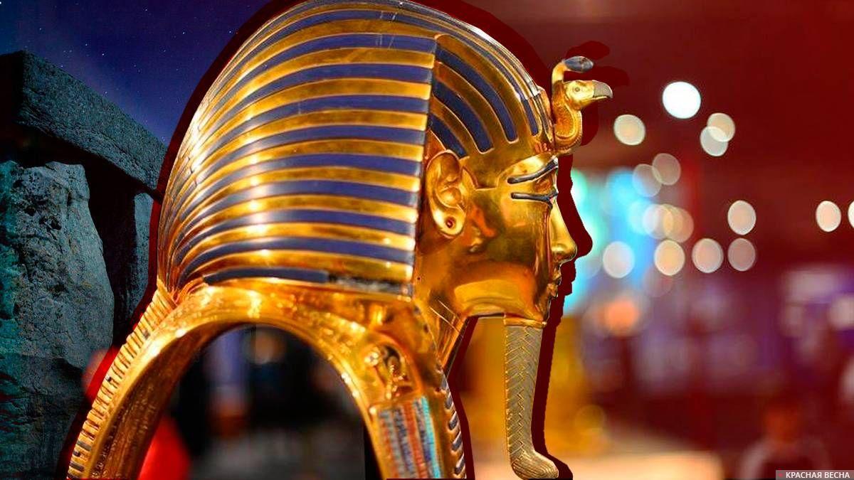 Золотая загробная маска Тутанхамона