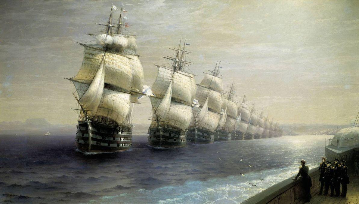 И.К. Айвазовский. Смотр Черноморского флота в 1849 году