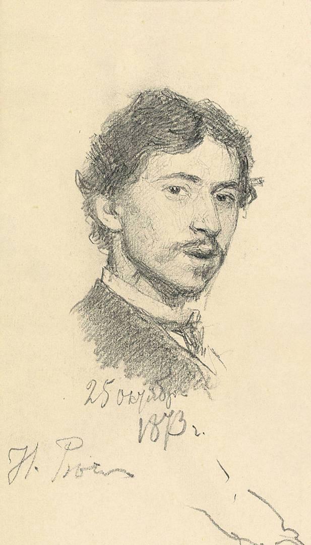 Илья Репин. Автопортрет. 1873