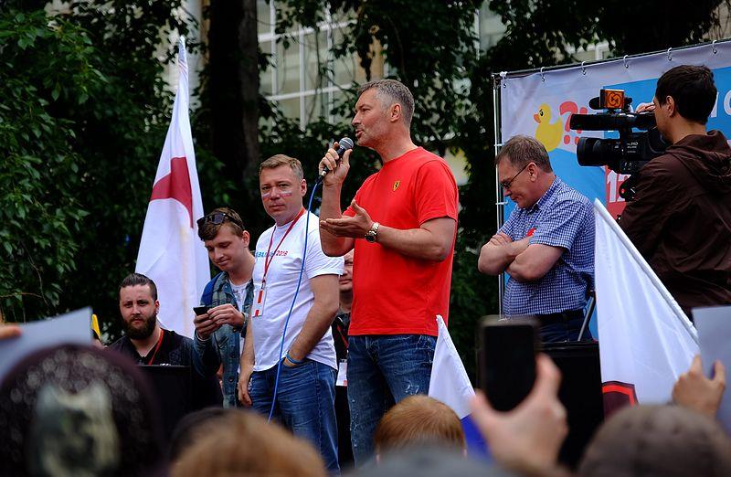 Евгений Ройзман на митинге [(cc)Фальшивомонетчик]