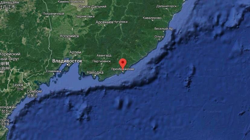 在滨海边疆区海岸附近的日本海发生了地震