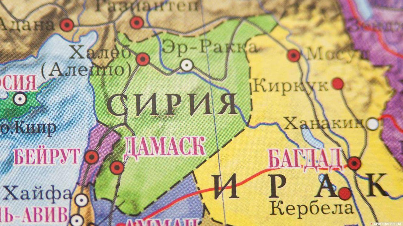 Сирия на карте мира