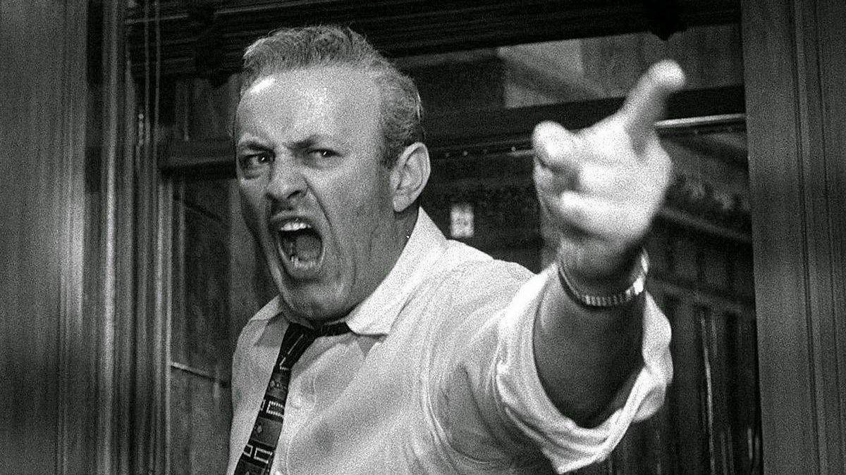 Цитата из х∕ф «12 разгневанных мужчин». Реж. Сидни Люмет. 1957. США