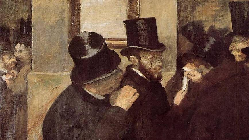 Эдгар Дега. На фондовой бирже (фрагмент). 1879 год.
