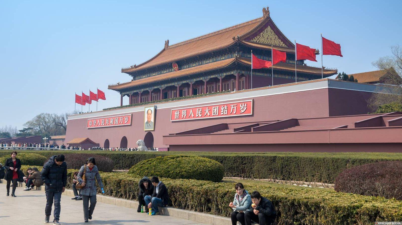 Врата Небесного Спокойствия (Тяньаньмэнь), Пекин, Китай. 25.03.2013