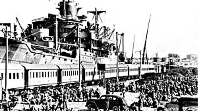 Отправка 6-й австралийской дивизии в Грецию. Александрия, апрель 1941