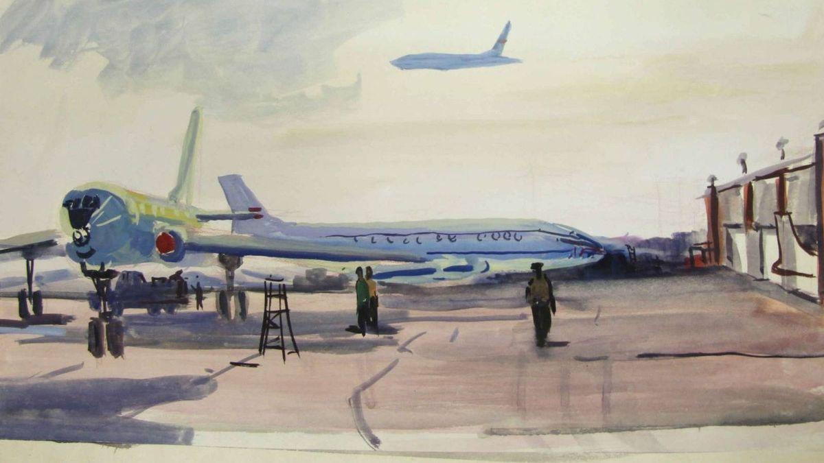 Багдасар Месропян. Аэропорт. 1958