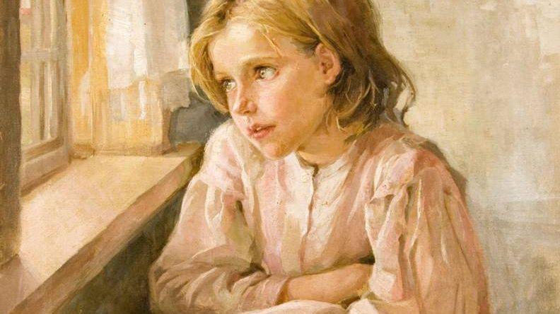 А.Ржевская. Девочка у окна (фрагмент). 1934г.
