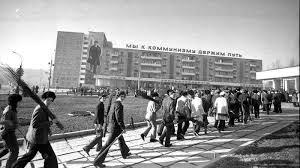 На субботнике. Кишинев. 1976