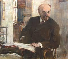 Николай Иванович Фешин. Портрет В. И. Ленина. 1918. (на выставке не представлена)