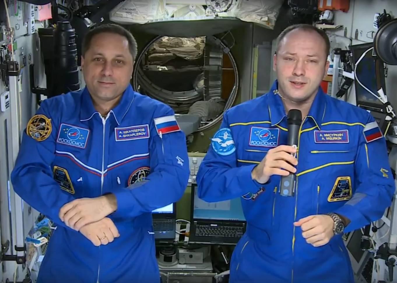 Поздравления космонавтов с борта МКС